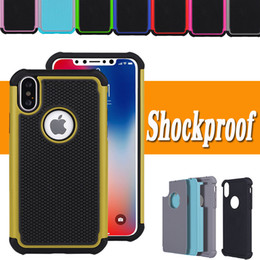 2 in 1 Defender Hybrid Tire Pattern Armor Impact Heavy Duty Shockproof Protection Rubber TPU + PC Cover For iPhone X 8 Plus 7 6 6S