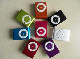 Mp3 mémoire lecteur 1gb à vendre-Vente en gros Nouveau lecteur MP3 Portable Portable Metal Clip avec 5 couleurs Candy Pas de lecteur de musique de carte mémoire avec slot TF