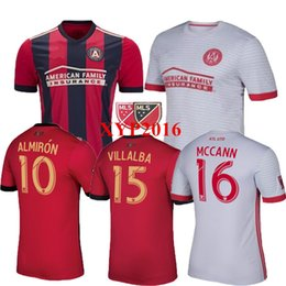Wholesale 17 ATLANTA UNITED FC CUSTOMIZED Rugby uniform SoCcER Almirón ATLANTA shirts thai quality Home Away jerseys FREE Ship
