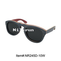 light oval multi layer blue and red skateboard composite wood sunglasses
