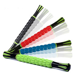 Wholesale 18inch Muscle Roller Stick Crossfit Fitness equipment ABS massage roller stick Yoga roller Leg Body Arm Back shoulder Muscle ZA2417