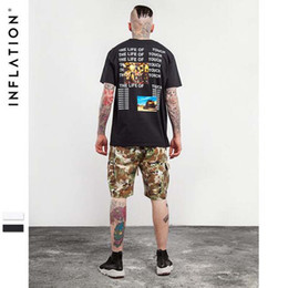Wholesale INFLATION Summer S XXL Tee Adults Casual Tee Tshirt Printing Black White Color Vintage T Shirt Short Sleeve High Fine Print Album Cover
