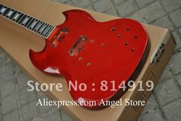 Cuerpo sg en Línea-Venta al por mayor-Cuerpo de caoba cuerpo inacabado sg Custom guitarra eléctrica hecho en China guitarra