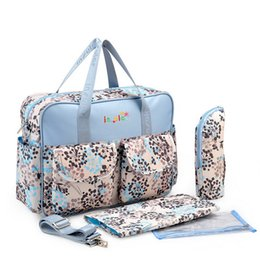 Wholesale Insular Free Shipping Fashion Baby Diaper Bags Waterproof Nylon Mommy Bag With Breeding Bottle Pocket