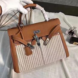 Les brunes à vendre-La plupart des femmes haut de la mode de haute qualité original sac à bandoulière en cuir véritable, les femmes de haute qualité brun sac à main de couleur Livraison gratuite