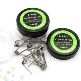 Alien Coil Heating Wires Resistance 0.45ohm sold by pc 0.3*0.8+32GA Resistance Alien Wire Fit RDA RBA E Cigarette DHL Free