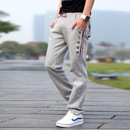Wholesale New Arrival Mens Pants Joggers Casual Cargo Pant Button Design Sweatpants Sportpants Open Air Shark Harem Pants Men SC551