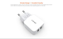 LDNIO Fast Charging Wall Charger 2.4A Dual USB Ports EU Plug Cellphone Charger for iphone 7 6 ipad Samsung