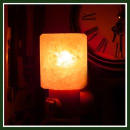 Wholesale New Arrival Mini Hand Carved Natural Crystal Himalayan Salt Lamp Wall night light Original stone and cylinder shaped