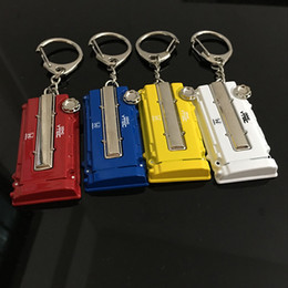 Wholesale 2016 Zinc alloy Racing Car Keychain Auto Parts Modified Keyring Engine key chain for Honda EK EG Engine Valve Cover Chaveiro Llavero Key Pen