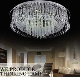 Descuento montaje en el techo accesorios de iluminación El envío libre enrasa la lámpara cristalina moderna LLFA del dormitorio de las luces de la sala de estar de Dia600 * H200mm de la lámpara del techo de la lámpara