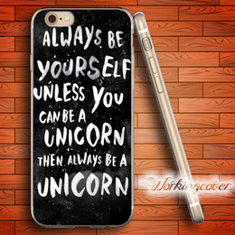 Coque Black Unicorn Quotes Soft Clear TPU Case for iPhone X 8 7 6 6S Plus 5S SE 5 5C 4S 4 Case Silicone Cover.
