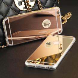 Promotion cas transparents pour iphone 4s Haute qualité de la mode de luxe miroir galvanoplastie TPU Clear Housse de téléphone souple couverture pour iPhone 4 4S 5 5S 6S 6 7 Plus Case Cover