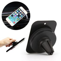 2017 vent mount gps Vente en gros - Support de voiture universel à 360 degrés Support d'air magnétique Support de téléphone portable intelligent pour iPhone 6 6s 7 Samsung Galaxy GPS peu coûteux vent mount gps