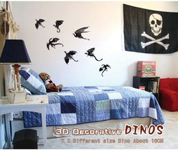 3D Butterfly Dinosaur wall decoration Wall Stickers PVC dinosaur for Halloween