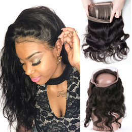 Resika Brazilian human virgin hair 360 lace frontal closure body wave natural hairline unprocessed hair new arrival 8-20inch Natural Color