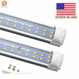 led tube double Integrated T8 Led Lights 4ft 28W 8ft 72W Light double lines Led Light Tube 1200mm 2400mm AC110-240V UL