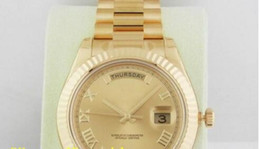 free shippng wholesale new arrifve luxury Mens Day-Date II President 41mm 218238 Champagne Roman Dial