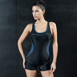 2017 New One-piece Swimsuit Boxer Movement lady Type Big Size Swimsuit Spa Swimming Suit