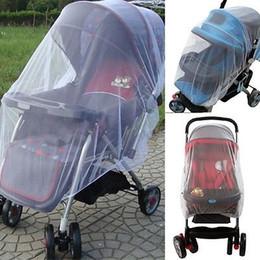 Promotion poussette bébé insecte Grossiste-Bébés Baby Poussette Panier Poussette Mosquito Insect Net Safe Mesh Buggy Crib Netting