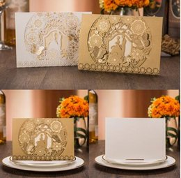 2017 Sample Laser Cut Bride and Groom Marriage Wedding Invitations Cards Greeting Cards 3D Cards Postcard Event Party Supplies