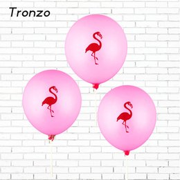 Tronzo 10Pcs 12Inch Pink Flamingo Party Balloons Latex Inflatable Ballon Christmas Tropical Party Supplies Wedding Decoration