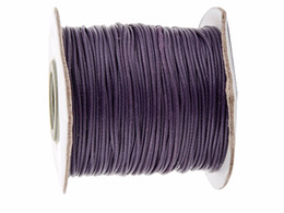 0.5mm DK Purple Korea Polyester Wax Cord Waxed Cord Thread+DIY Jewelry Bracelet Necklace Wire String Accessories 200yards roll