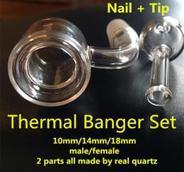 Wholesale 2017 quartz thermique banger clou Double paroi clou de quartz mm mm mm mâle femelle vrai quartz livraison gratuite