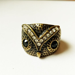 The American and American Japanese and Japanese accessories vintage owls are full of diamond ring female