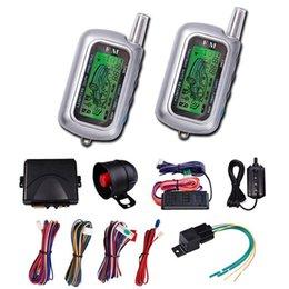 Descuento sistema de alarma a distancia un coche CarBest Seguridad del vehículo Paging Alarma de coche 2 Way LCD Sensor Remote Engine Start System Kit Automatic | Sistema de alarma antirrobo CA-999