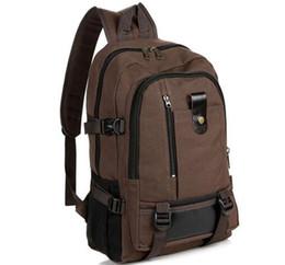 Promotion toile sac à dos beige brun Mode sacs à dos occasionnels masculin garçon marron noir toile sacs à dos Nylon sac à dos concepteur