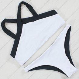 2017 xl negro tankini Doble cara atractiva bikiní mujeres traje de baño 2017 Summer Beach desgaste Push Up traje de baño vendaje traje de baño blanco y negro XL xl negro tankini promoción