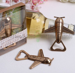 Wholesale NEW Antique airplane bottle opener romantic wedding party favor gift guest present MYY