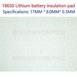 100pcs Lot 18650 Universal Battery Positive Hollow Insulating Gasket Hollow Flat Head Insulator 17 * 8 * 0.3