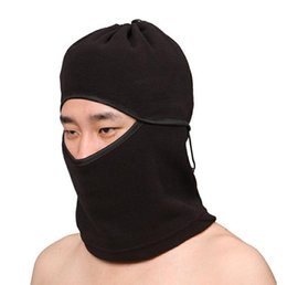 Wholesale Newest Thermal Neck warmers Thicken Artificial Fleece Hat Headgear Winter Skiing Ear Windproof Warm Face Mask Motorcycle Bicycle Scarf