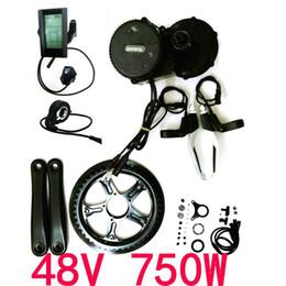 48V 750W 8fun Bafang Mid Drive Central Motor BBS02B Crank Motor Eletric Bicycles Trike Conversion DIY Ebike Kits with C965 LCD Display