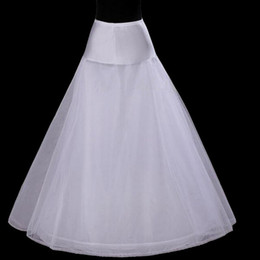Free shipping petticoats 2017 New white 1-Hoop A-line wedding dress bride underskirt crinoline wedding accessories