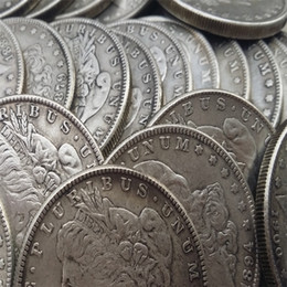 "Hot Selling US Coins Morgan Dollars 26 ""o"" dates Promotion Cheap Factory Price nice home Accessories Silver Coins"