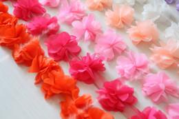 2017 cosiendo flores 3d 50 yardas Tela de encaje de la boda 3D rosas gasa de encaje bordes de encaje 6 cm de ancho DIY vestido de la venda accesorios de costura para la ropa