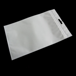2017 sac de rangement clair Clear White Pearl Plastique Sacs Poly OPP Packing Zipper Lock sac PVC Retail Boxes Emballage de bijoux pour tous les cas / câble de téléphone abordable sac de rangement clair