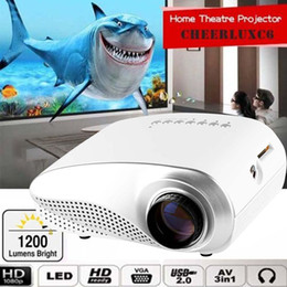 Wholesale HD P AV HDMI Home Cinema Theater Movie Multimedia LED Projector White EU hdmi projector usb projector APE