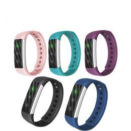 Wholesale ID115Lite ID115 Lite Smart Bracelet Fitness Tracker Step Counter Activity Monitor Band Alarm Clock Vibration Wristband pk ID107