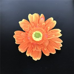Orange Artificial Silk Daisy Flower Heads 11cm Real Touch Daisy Silk Flowers Chrysanthemum Sunflowers Flowers Wedding Patry Decoration