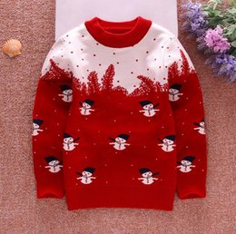 Wholesale Children Christmas Jumper Cotton - 4PCS Kid's Sweater, Children Christmas Sweater for boy and girl clothes, Infant baby Pullover christmas sweater, 95% Cotton & Cashmere