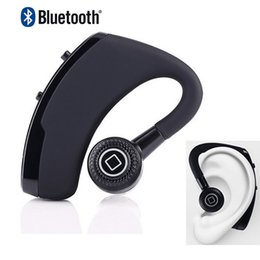 Wholesale 2016 new v9 Bluetooth upgrade voyager Headset w Voice Command Auto answers for iphone android bluetooth headphone