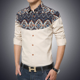 A new spring sleeved shirt young men leisure slim Korean fashion clothes mens shirt printing gradient clothing