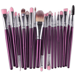 Mybasy 20pcs Makeup Brushes Set Pro Cosmetic Powder Foundation Eyeshadow Eyeliner Lip Makeup Brushes Sets(Purple+Silver)