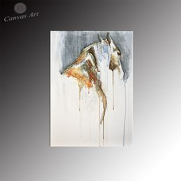 No Framed Modern Home Decor Canvas Prints Artwork of Abstract Animal Horse Digital Printing for Living Room