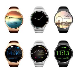 2017 apple iphone smart watches KW18 Smart Watch Smartwatch pour iPhone 7 avec carte SIM Bluetooth Waterproof Watches Heart Rate Monitor podomètre pour téléphones Android IOS apple iphone smart watches ventes