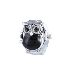 La mejor calidad y la manera caliente de la venta Regalo retro creativo de los relojes de las mujeres del reloj del anillo de la clamshell del dedo del buho nuevo desde los mejores relojes de moda de calidad proveedores